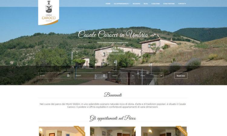 Casale Carocci nuovo sito web